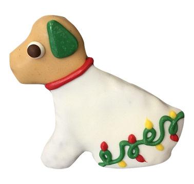 illuminated lab dog cookie